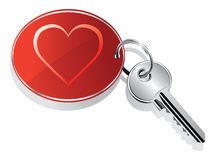 Heart key ring Royalty Free Stock Image