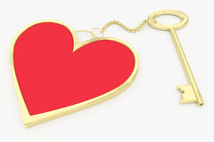 Heart key ring Stock Image