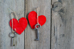 Heart and key Royalty Free Stock Images