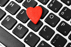 Heart on the keyboard Royalty Free Stock Images