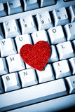 Heart on keyboard Stock Photo