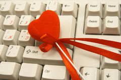 Heart on keyboard Royalty Free Stock Images