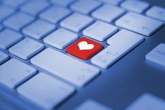Heart keyboard key Stock Photography
