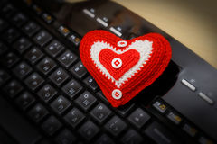 Heart on keyboard Stock Photography