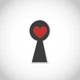 Heart with keyhole Stock Image