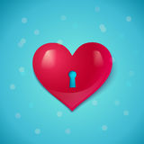 Heart with keyhole Stock Photo