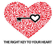 Heart_from_keys vector illustratie