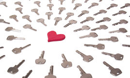Heart and keys concept Stock Image