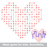 Heart kid maze game. Search the way. Royalty Free Stock Images