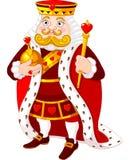 Heart king. Cartoon heart king holding a golden scepter Stock Images