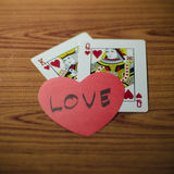 Heart and king queen card Stock Photos