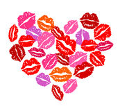Heart of kisses. For Valentine's Day. Vector image, no size limit Stock Image