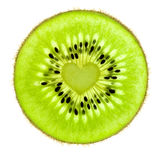 Heart of a Kiwi / Super Macro /  back lit Royalty Free Stock Image