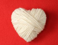 Heart of Knitting Stock Image