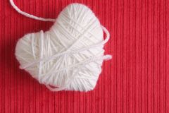 Heart of Knitting. Love symbol Royalty Free Stock Image