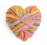 Heart of Knitting isolated Royalty Free Stock Image