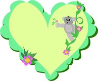 Heart with Koala Bear Stock Photography