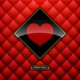 Heart label from paper Valentines day card  background eps 10 Royalty Free Stock Photos