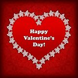Heart label from paper Valentines day card  background eps 10 Royalty Free Stock Images