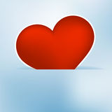 Heart label from paper Valentines day card. + EPS8 Stock Image
