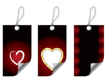 Heart labels Royalty Free Stock Images
