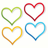 Heart labels. Royalty Free Stock Image