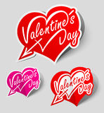 Heart labels Stock Photography
