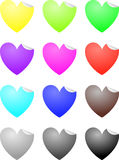 Heart labels. Labels in the shape of a heart Stock Photography