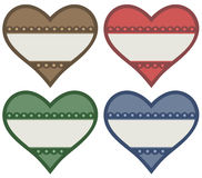 Heart labels Royalty Free Stock Image