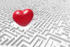 Heart into labyrinth. Royalty Free Stock Photography