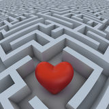 Heart in the labyrinth. Heart lost in the endless labyrinth royalty free illustration