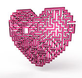 Heart labyrinth vector illustration