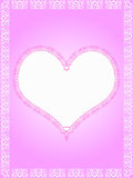 Heart with lace border Royalty Free Stock Photography