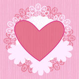 Heart lace Royalty Free Stock Image
