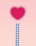 Heart Ladder Stock Image