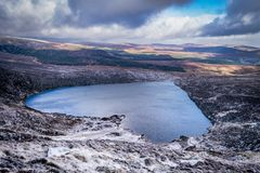 Heart lake in Wicklow mountains. Ireland, Wicklow. Tonelagee, Wicklow, Ireland Royalty Free Stock Images