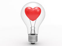 Heart in a lamp Stock Image