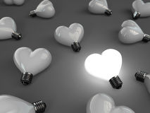 Heart lamp Stock Photos