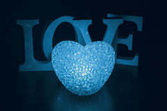Heart lamp and word Love Stock Photo