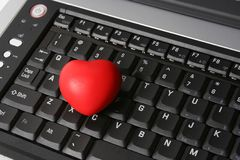 HEART ON LAPTOP Royalty Free Stock Photos