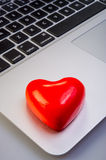 Heart and laptop Royalty Free Stock Image