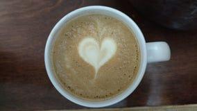 Heart Latte Stock Photo