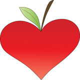Heart with leaf Stock Photo