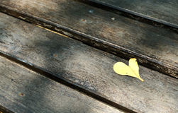 Heart leaf. The heart leaf on the bridge Royalty Free Stock Photos