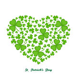 Heart leaf clover - illustration. Clover leaves forming a heart shape isolated on white background royalty free illustration