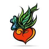 Heart leaf colorful Stock Photos