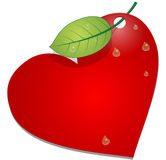 Heart with leaf Stock Images