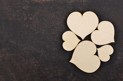 Heart on leather background Royalty Free Stock Image