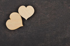 Heart on leather background Royalty Free Stock Images