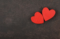Heart on leather background Stock Photography